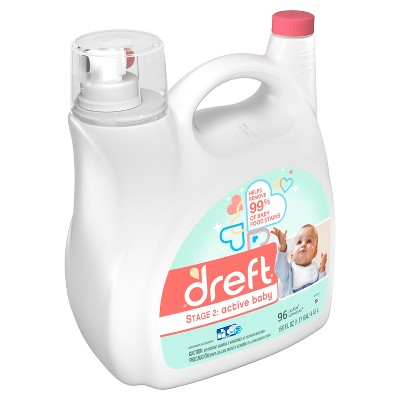Dreft Stage 2: Active Baby HE Compatible Liquid Laundry Detergent: 150oz, 96 loads