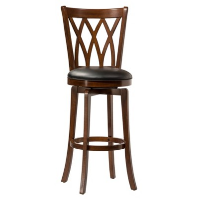 """Mansfield 24"""" Counter Height Barstool Harwood/Brown - Hillsdale Furniture"""