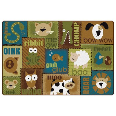 4'x6' Rectangle Woven Area Rug Brown - Carpets For Kids