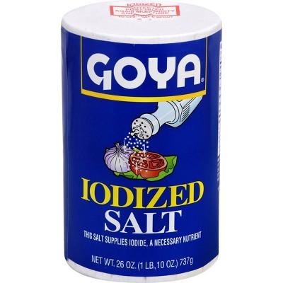 Salt: Goya Iodized Salt