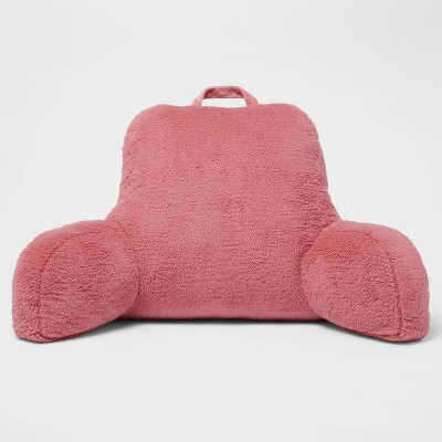 Sherpa Bed Rest Pillow Pink - Room Essentials™