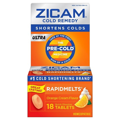 Zicam Cold Ultra RapidMelts - Orange - 18ct - image 1 of 2