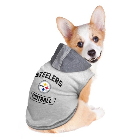 ec32c51fb8f Pittsburgh Steelers Little Earth Pet Hooded Crewneck Football Shirt - Gray  XXL : Target