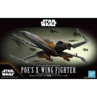 Bandai Star Wars Rise of Skywalker Poe's X-Wing Starfighter 1/72 Scale Model Kit