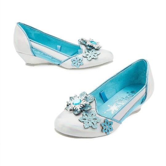 Disney Frozen 2 Elsa Kids' Dress-Up Shoes - Size 9-10- Disney store, Blue image number null