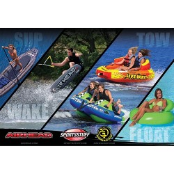 Sportsstuff Poparazzi 2 Double Rider Wing-Shaped Lake Boat Towable Tube (2 Pack)