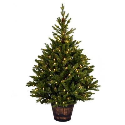 "Vickerman 5' x 32"" Reeder Pine Artificial Christmas Tree, Warm White Dura-lit LED Lights"