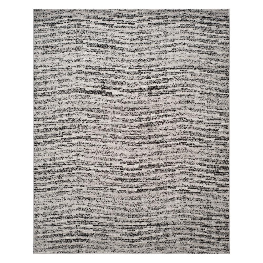 9'X12' Spacedye Design Area Rug Black/Silver - Safavieh