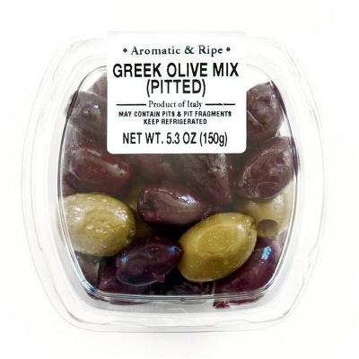 Ficacci Greek Mix Pitted Olives - 5.3oz
