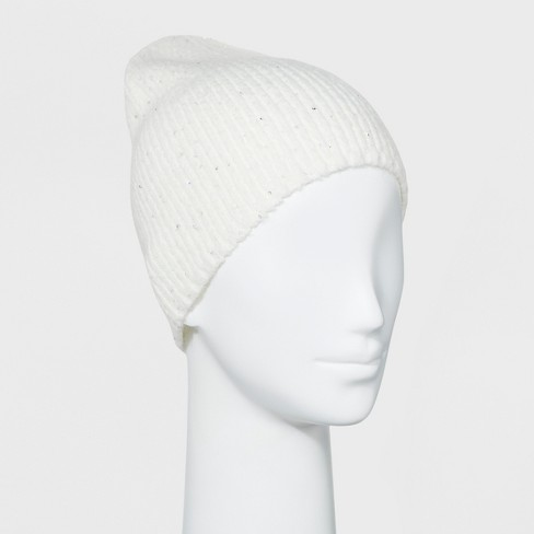 Women s Shaker Stitch Sequin Beanie - A New Day™   Target 708a21e214d