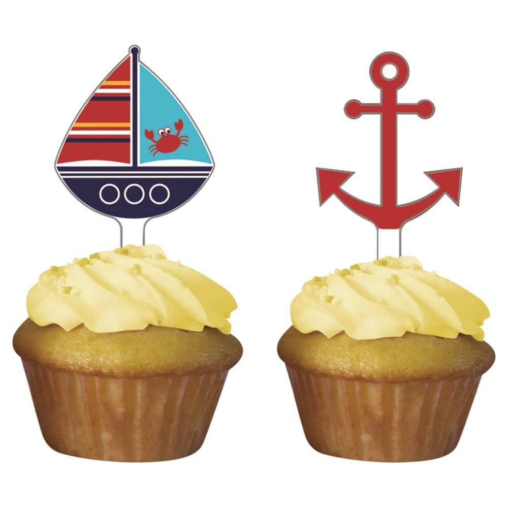 Image of 12ct Ahoy Matey! Cupcake Toppers