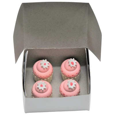 The Queen's Treasures 18 Inch Doll 4 Piece Mini Cupcakes with Bakery Box