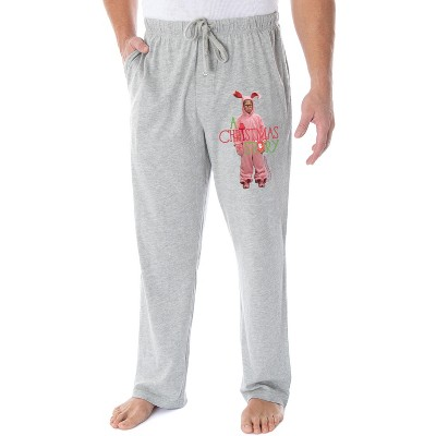 A Christmas Story Men's Ralphie Pink Nightmare Bunny Loungewear Pajama Pants