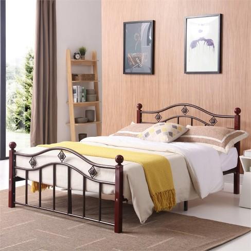 Complete Bronze Metal Bed in Twin Size - Hodedah - image 1 of 3