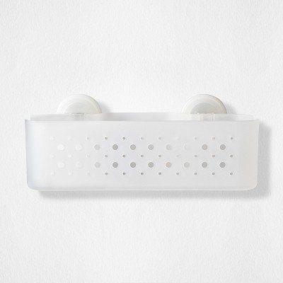 Rectangle Basket with Power Lock Lever Suction White - Room Essentials™