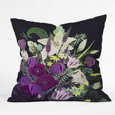 18''x18'' Iveta Abolina Viola Garden Throw Pillow Purple - Deny Designs