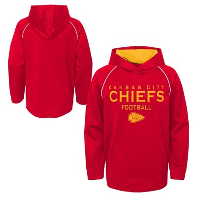42e382ec2 Kansas City Chiefs Boys  In The Game Poly Embossed Hoodie L   Target