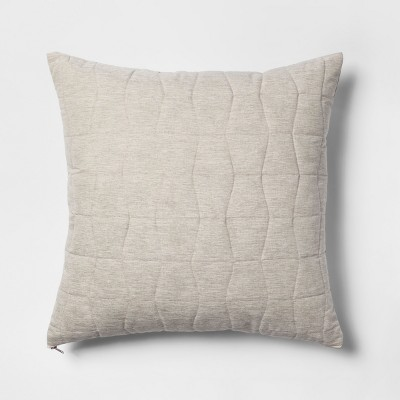 Quilted Geo Oversize Square Throw Pillow Neutral - Project 62™