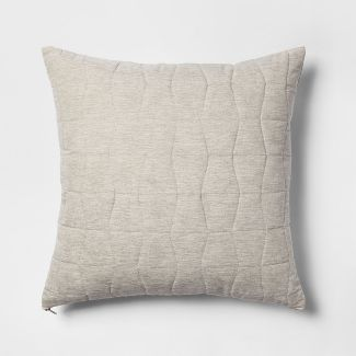 Quilted Geo Oversize Square Throw Pillow Beige - Project 62™