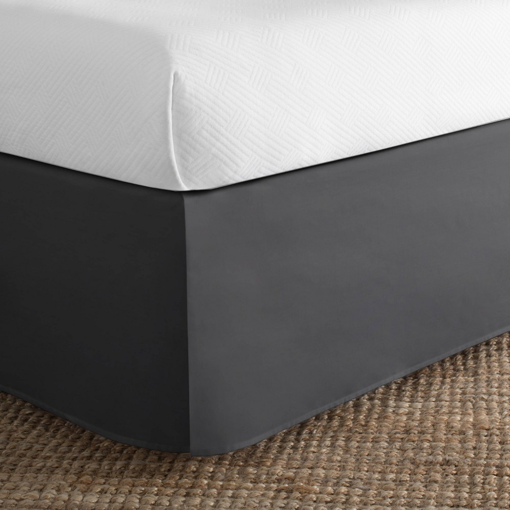 Image of Today's Home California King Cotton Rich Bed Skirt Gray