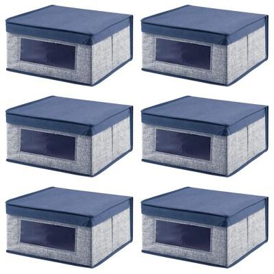 mDesign Soft Fabric Child/Kid Storage Organizer Box - 6 Pack