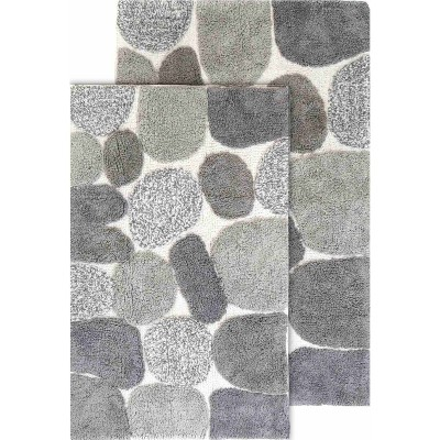2pc Pebbles Bath Rug Set Dark Gray - Chesapeake Merchandising