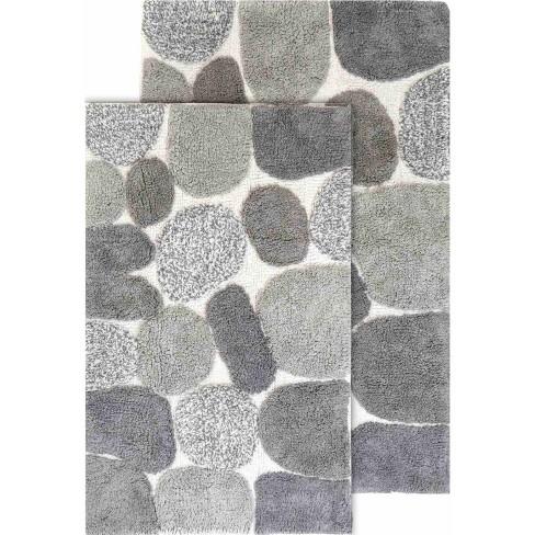 2pc Pebbles Bath Rug Set Dark Gray Chesapeake Merchandising Target