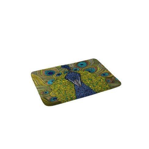 "24"" x 36"" Mr Pavo Real Bath Rug Blue - Deny Designs - image 1 of 2"