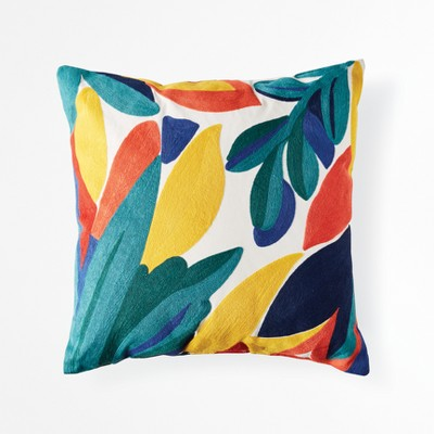 Tropical Leaf Throw Pillow - Green/Yellow - Project 62™