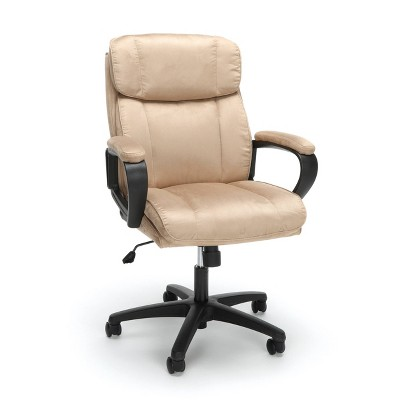 Plush Microfiber Adjustable Office Chair with Wheels - OFM