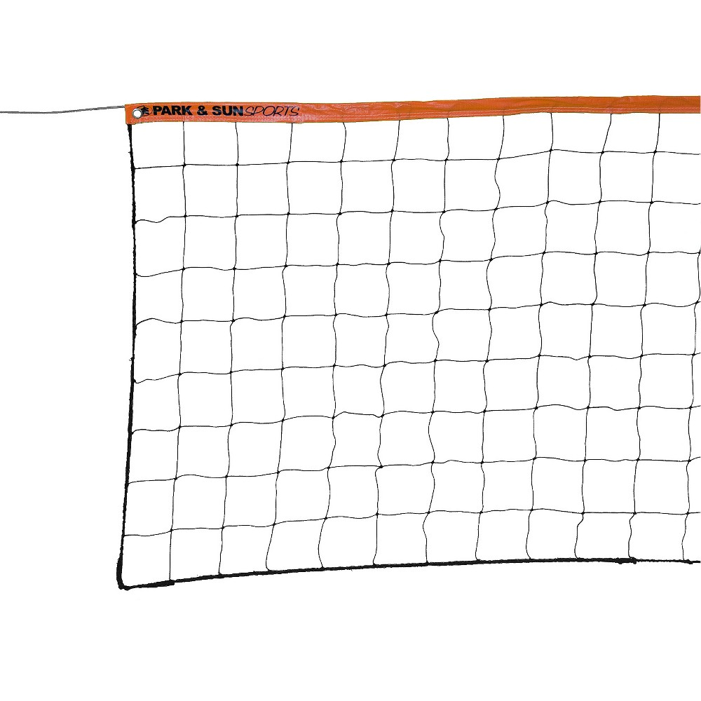 Park & Sun Sports VN-3S Steel Cable Volleyball Net - Orange