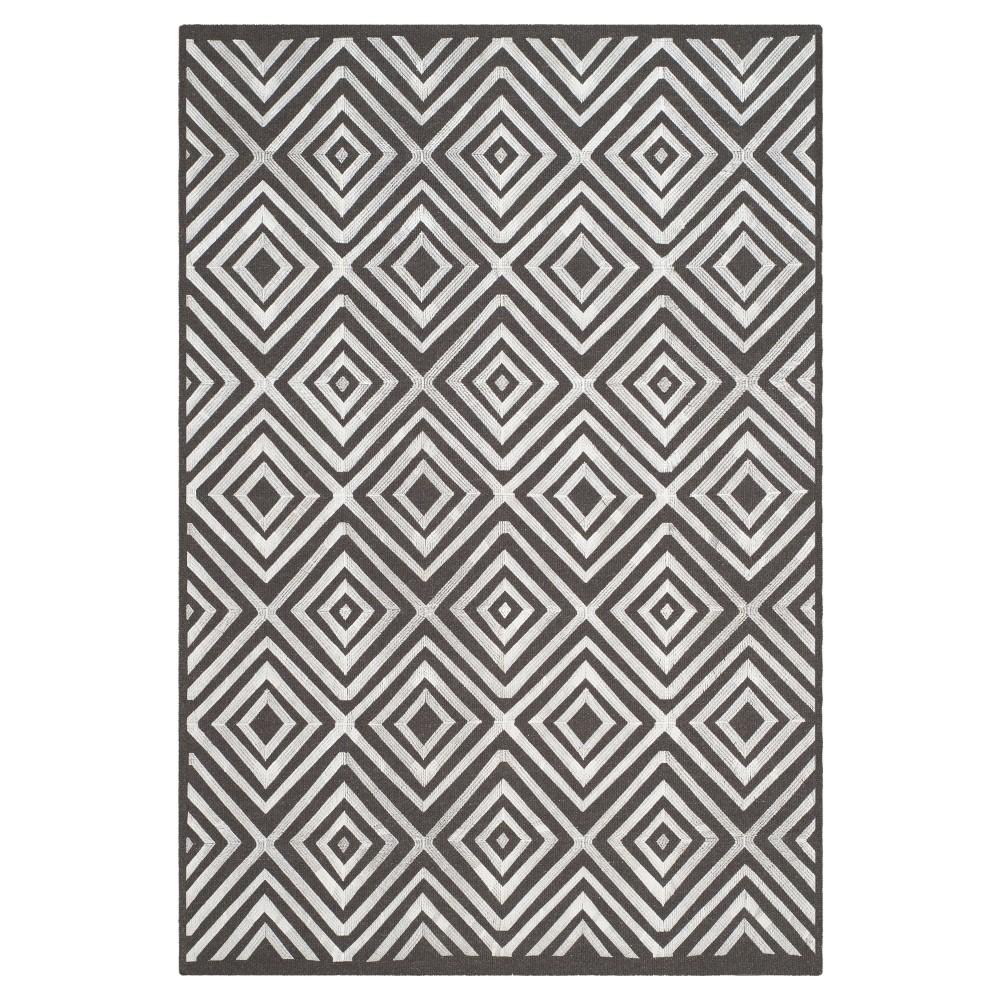 Kilim Rug - Charcoal (Grey) - (4'x6') - Safavieh