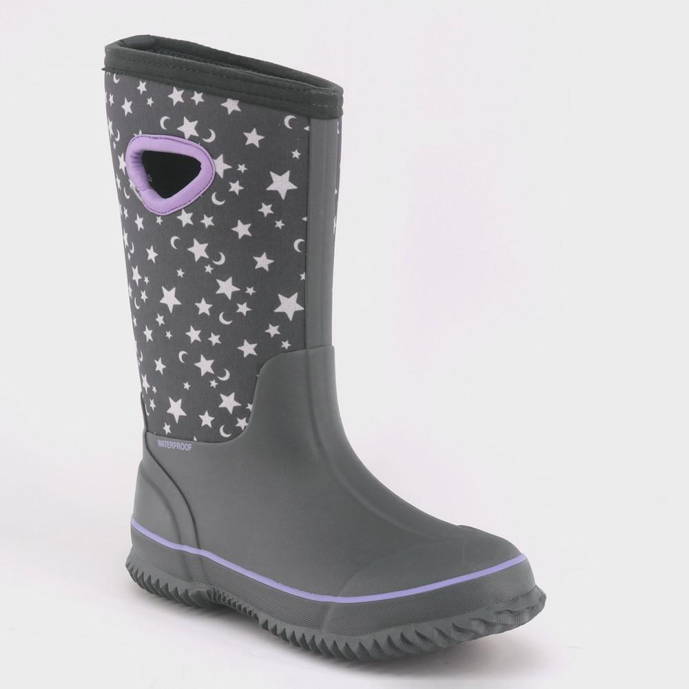 Girls' Polly Neoprene Winter Boots - Cat & Jack Gray 4