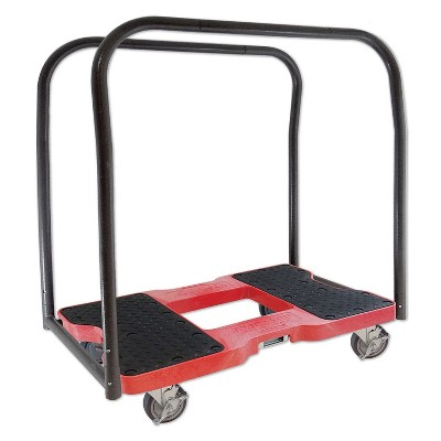 Snap Loc 1500 lb Capacity Industrial Strength E Track Panel Cart Dolly Red, Heavy Duty 4 in Polyurethane Swivel Non Marking Caster Wheels
