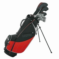 Wilson Golf Ultra Men's 9-Club, Right-Handed Set w/ Bag and Covers, Black & Red
