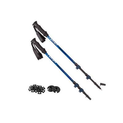 Yukon Charlie's Advanced Adjustable Lightweight Trekking Poles w/ Baskets, Blue