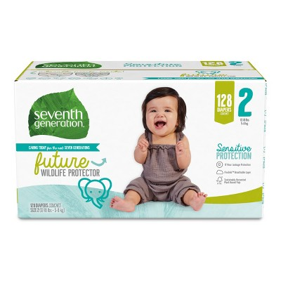 Seventh Generation L Pack Diapers - 128ct