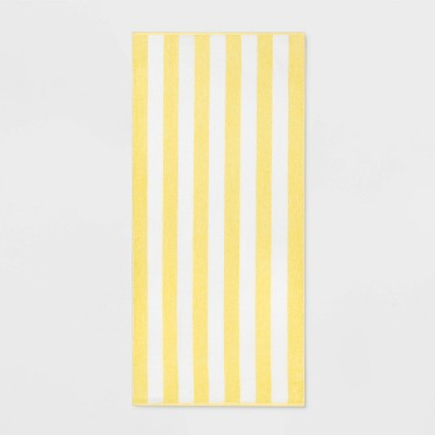 Cabana Striped Beach Towel Yellow - Sun Squad™