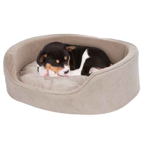 Petmaker Large Cuddle Round Microsuede Pet Bed - Clay - image 1 of 2
