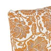 Floral Square Throw Pillow Orange - Skyline Furniture - image 3 of 4