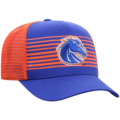 NCAA Boise State Broncos Men's Striped with Hard Mesh Snapback Hat