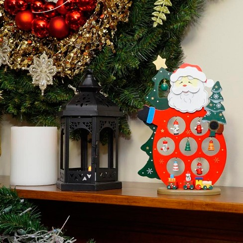 northlight 1025 wooden santa claus cut out with miniature ornaments christmas table top decoration target