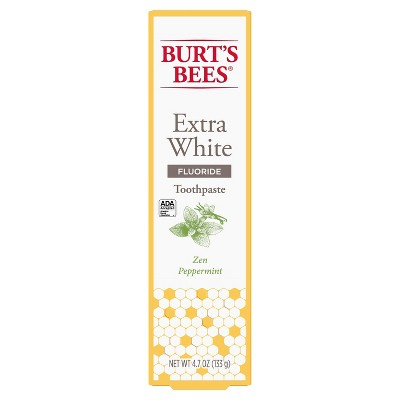 Burt's Bees Zen Peppermint Whitening Fluoride Toothpaste - 4.7oz
