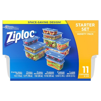 Ziploc Starter Variety Pack Containers - 11ct