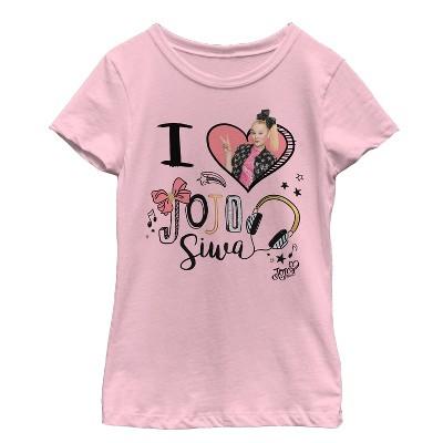 Girl's Jojo Siwa I Heart Jojo T-Shirt