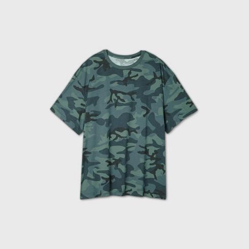 Men's Big & Tall Camo Print Short Sleeve T-Shirt - Original Use™ Green - image 1 of 1