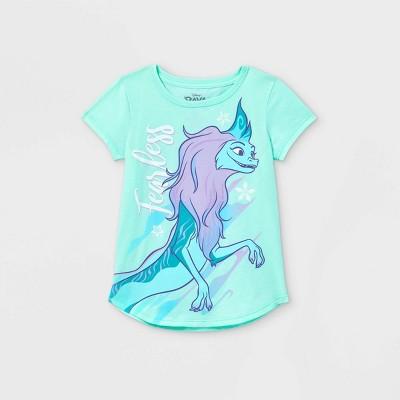 Girls' Disney Fearless Raya Short Sleeve Graphic T-Shirt - Blue