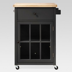 Windham Wood Top Kitchen Cart - Black - Threshold™