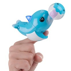 Fingerlings Baby Light-up Dolphin - Blues (Blue) - Interactive Toy