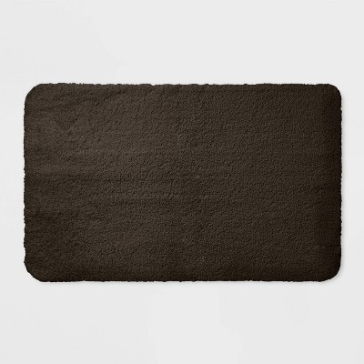 37 x23  Performance Nylon Bath Rug Dark Brown - Threshold™